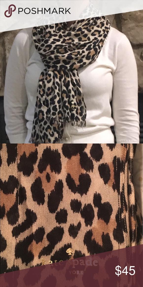 Kate spade scarf Animal print Kate spade scarf! kate spade Accessories Scarves & Wraps