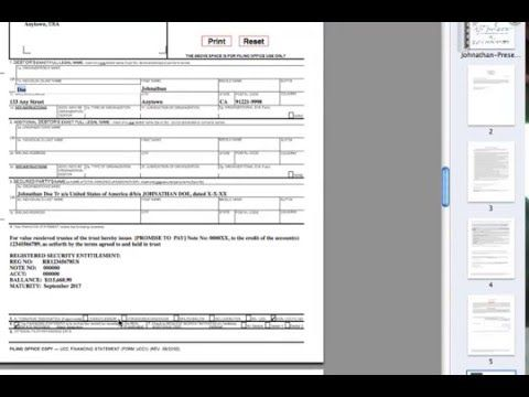 DISCHARGE DEBT \ the Promissory Note - Part 3 of 5 (UCC-1 - promissory note parties
