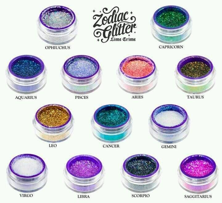 Zodiac glitters