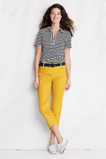 Stripe Supima Polo Shirt from Lands End    Fashion, Fashion and more ... e8e6aa479a