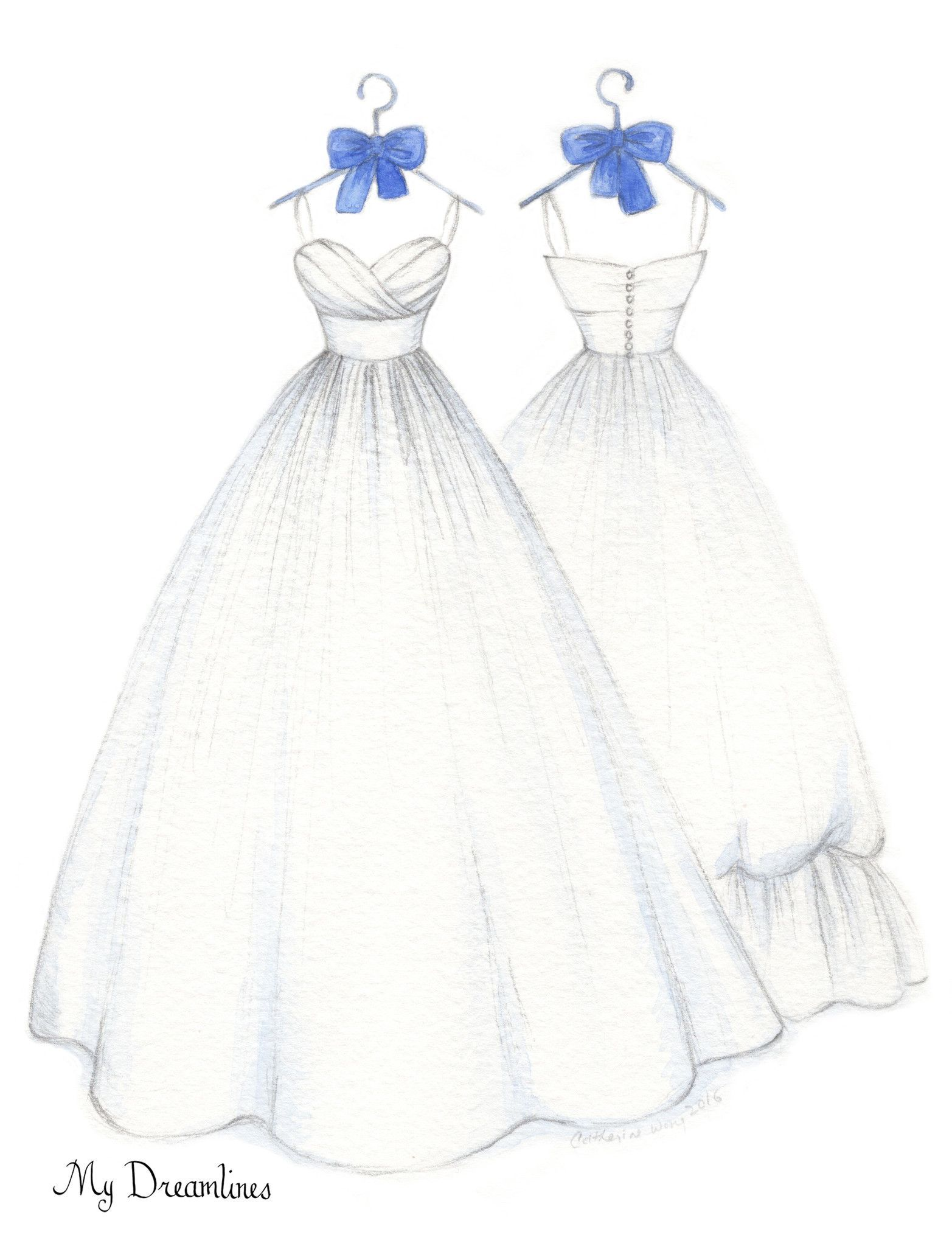 One year anniversary gift personal wedding dress front u back