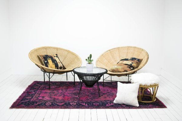 Our Collection Of Vintage And Modern Rental Furnishings With Images Modern Outdoor Rugs Coffee Table Hemp Pillows