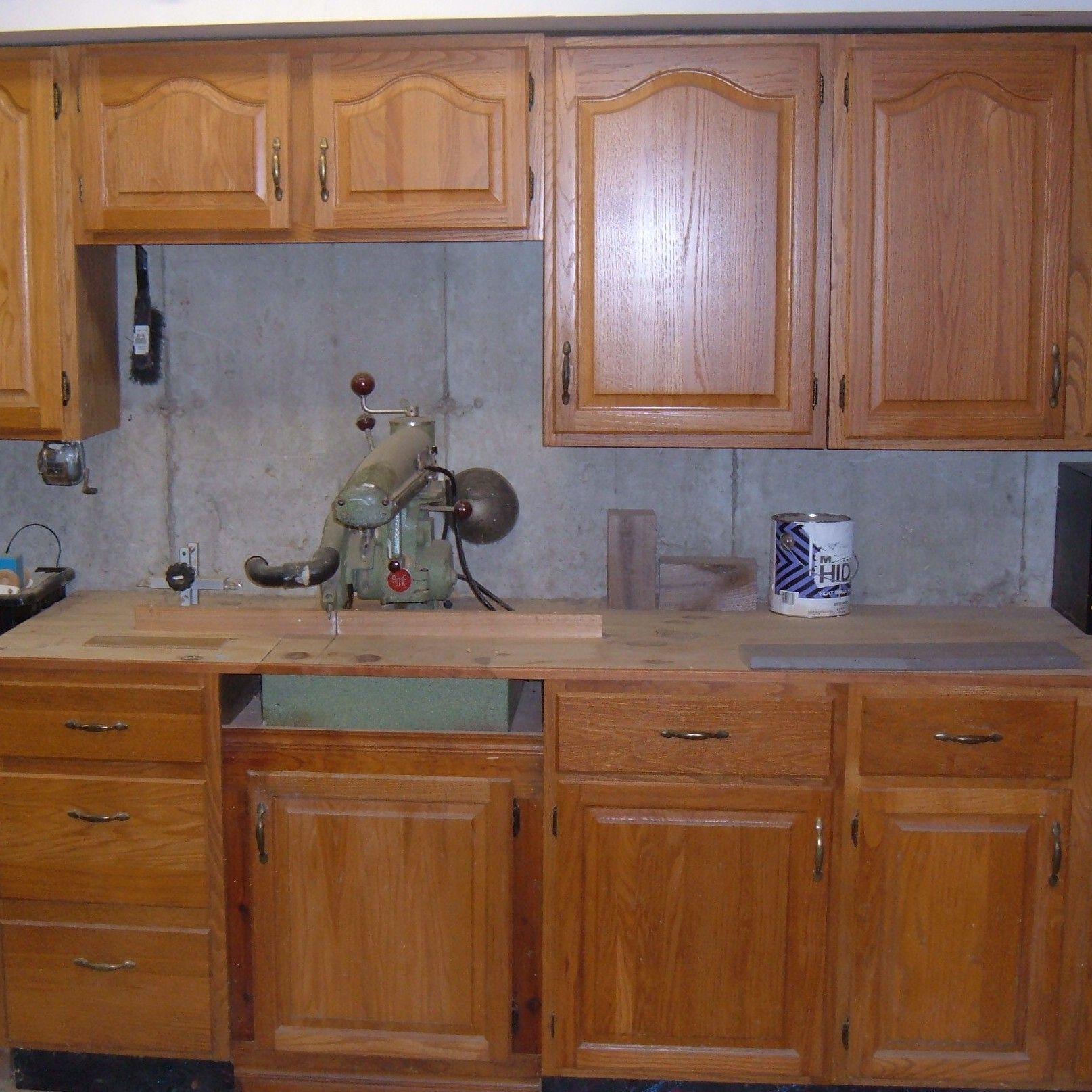 Kitchen Cabinets In Garage Garage Storage Units Diy Garage Storage Cabinets Recycled In 2020 Garage Storage Units Kitchen Cabinets In Garage Recycled Kitchen