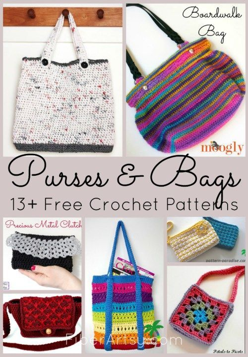 Free Crochet Patterns For Purses And Bags Pinterest Free Crochet