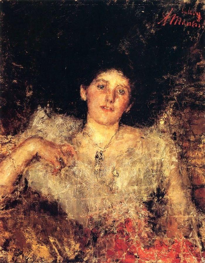 Antonio Mancini   Art   Pinterest   Paintings, Portraits and ...