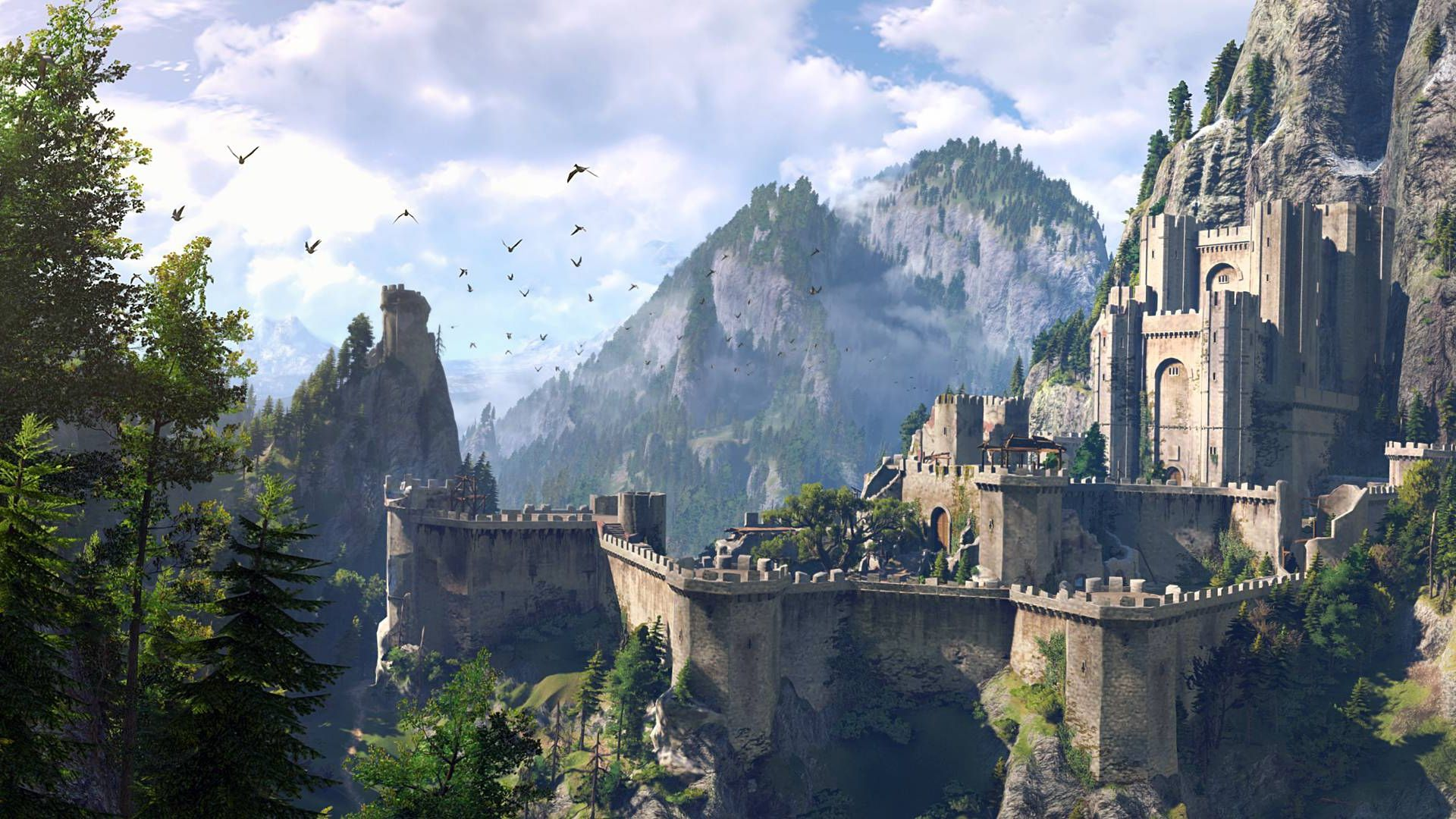 The Witcher 3 Wild Hunt Hd Game Fantasy Castle Hd Wallpaper