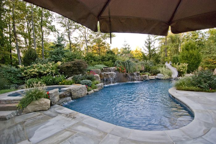Superb Pools With Outdoor Kitchens | Luxury In Ground Swimming Pool And Patio  Design Ideas And Installation