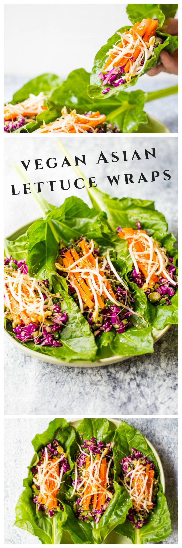 Vegan Asian Lettuce Wraps Recipe Raw food recipes, Raw