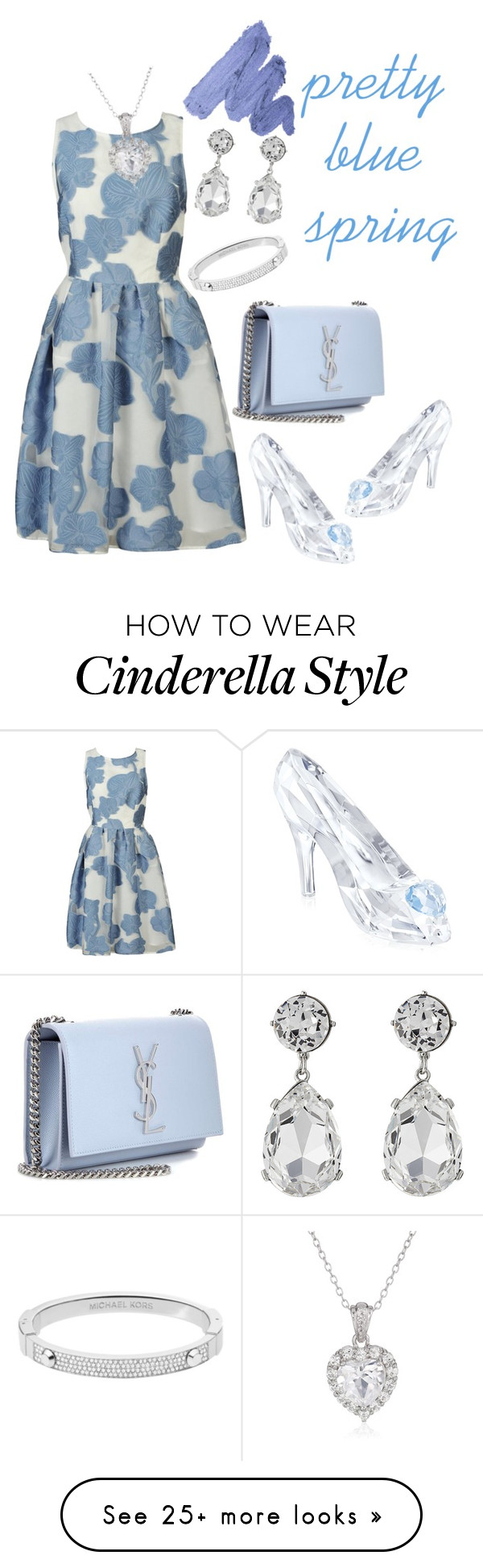 """""""Pretty Blue Spring"""" by nur-agni-rh on Polyvore featuring P.A.R.O.S.H., Swarovski, Yves Saint Laurent, Michael Kors, Kenneth Jay Lane, Spring and Blue"""