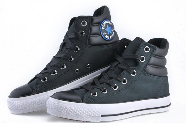 0c39b989723d Chuck Taylor Padded Collar High Top Leather Shoes.  Converse Chuck Taylor All Star Black CT As Specialty Padded Collar High Top Leather  Shoes Converse ...