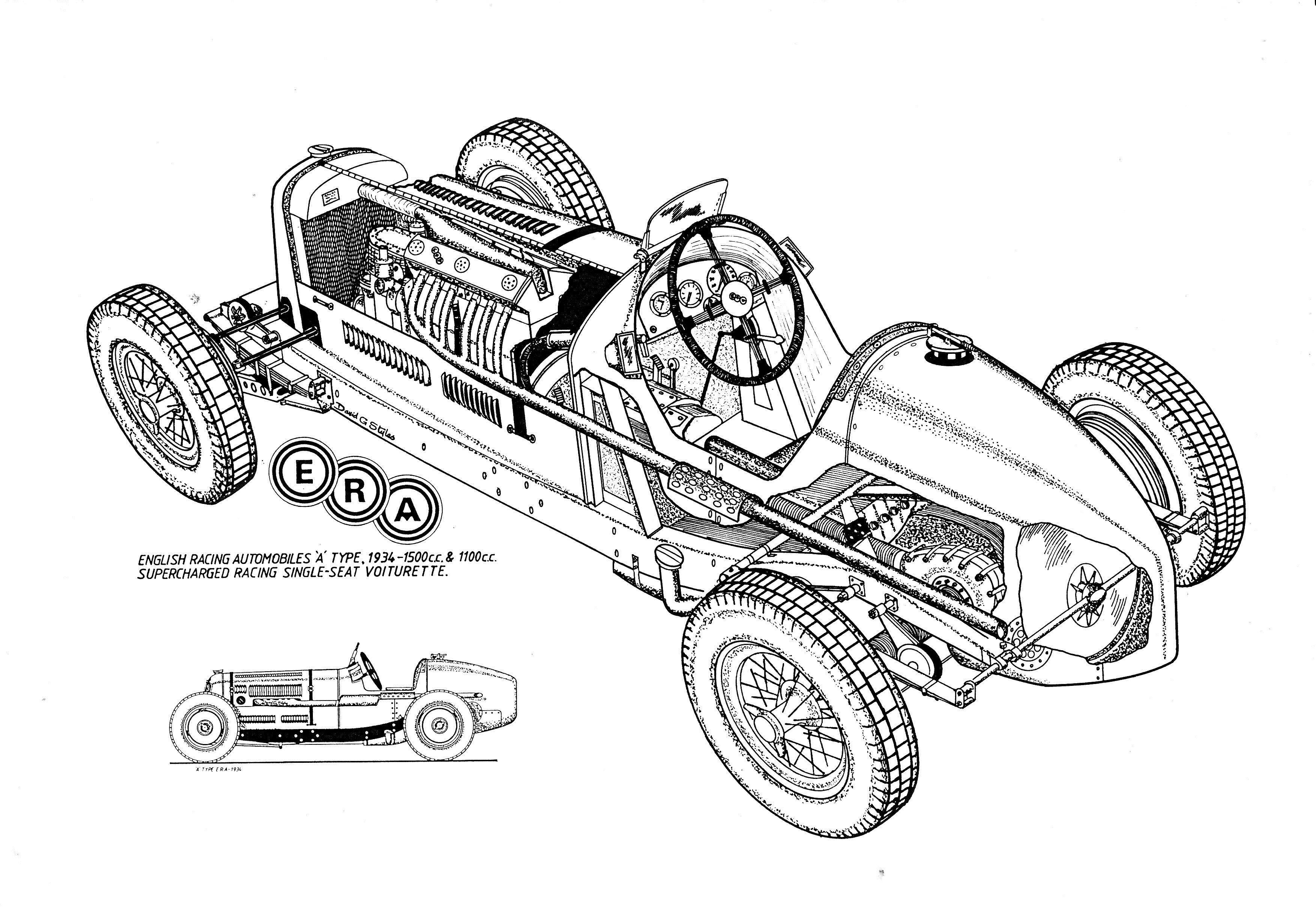 1934 ERA (English Racing Automobiles) Type R1A 1500cc
