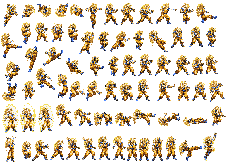 dbz ssj goku sprite sheet by cy689 on deviantart game spritesheet