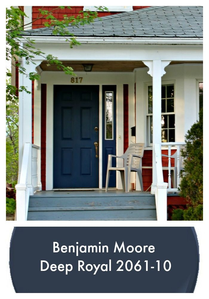 This classic navy blue front door currently trending as for Navy blue front door