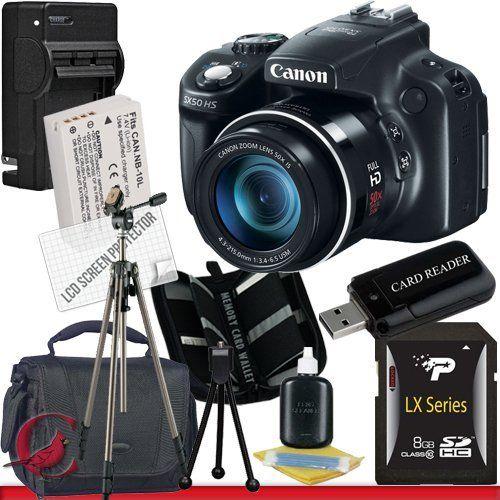 Canon Powershot Sx50 Hs Digital Camera 8gb Package 4 By Canon 484 99 Package Contents 1 Canon Powershot Sx Digital Camera Best Digital Camera Camera Gift