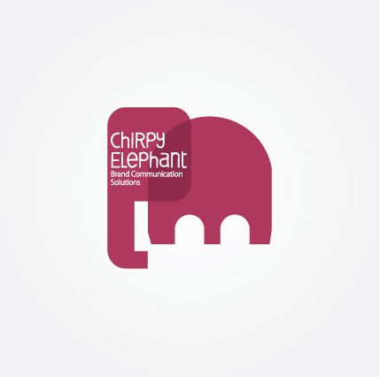 Chirpy Elephant Logo | Print, Poster, Outdoor, Activation ...