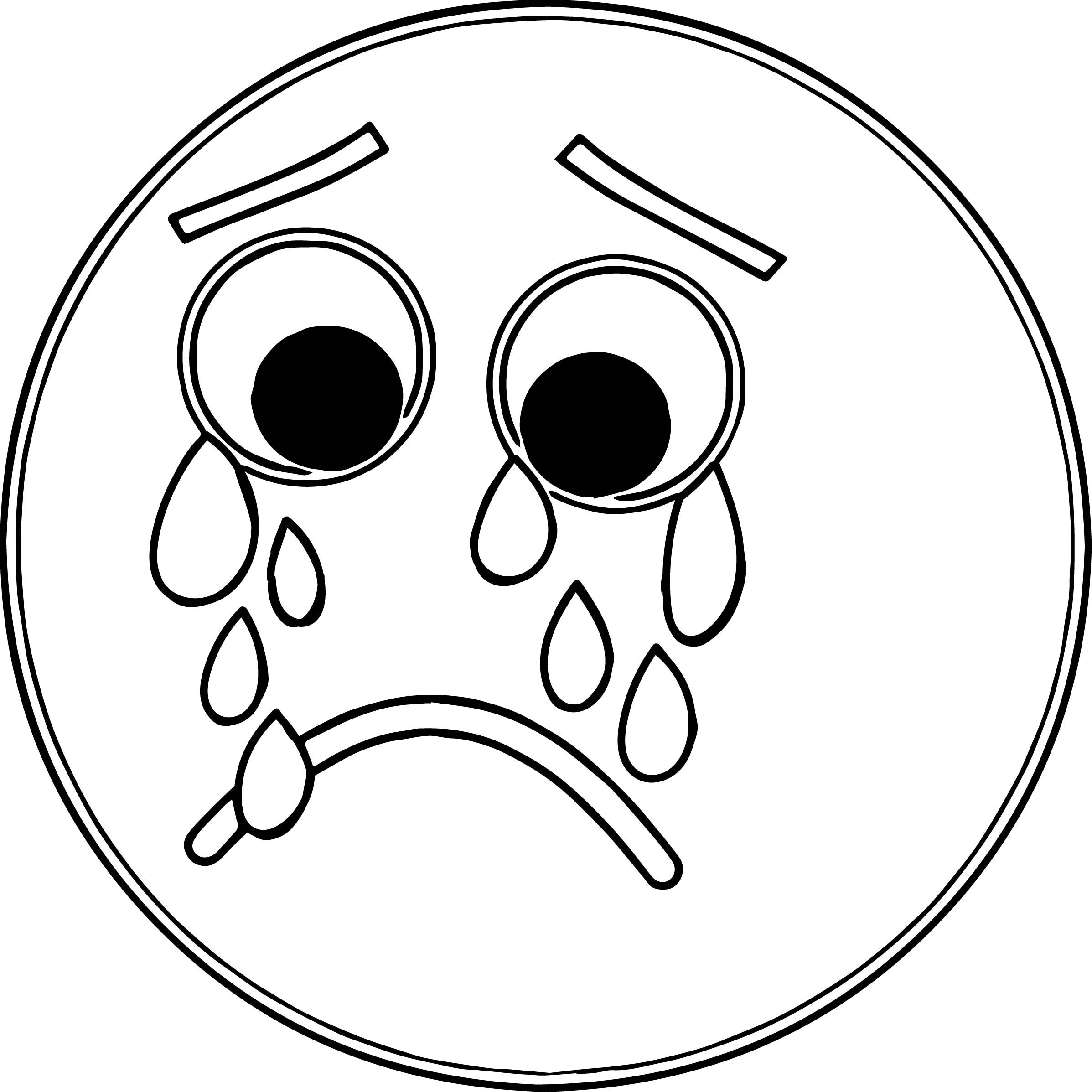 cool Sad Face Frowny Face S For You Cow Coloring Page ...