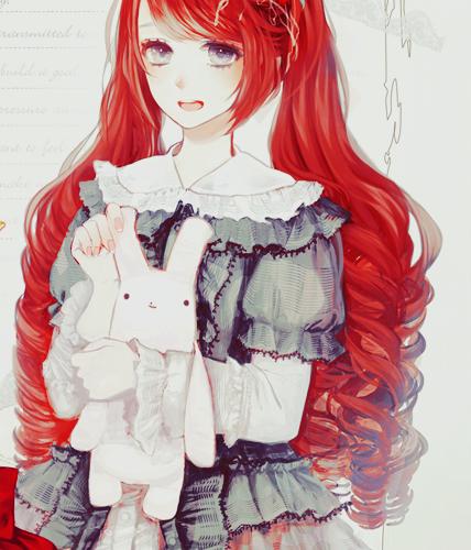 Redhead anime girls