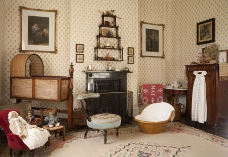 The Day Nursery With A Mahogany And Wicker Cradle Collection Of Victorian Toys At