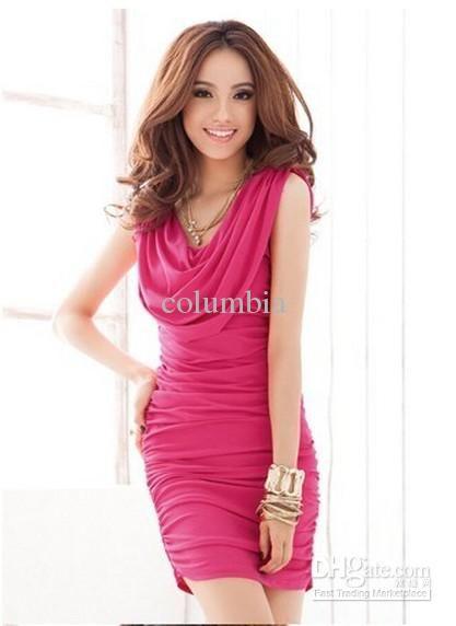 c04c808e06b88 New Fashion Japan Korea Women Han Edition Slim Sexy Tight Dress #336 ...