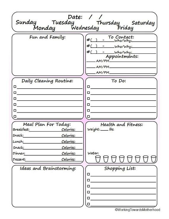 cool daily planner undated so you can use it for however long you