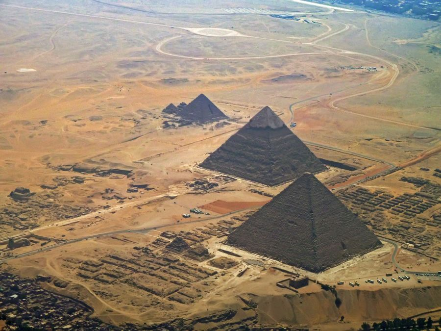 Sphinx Elevation Is About The Same As The Low Ground In The Right - Map of egypt pyramids and sphinx