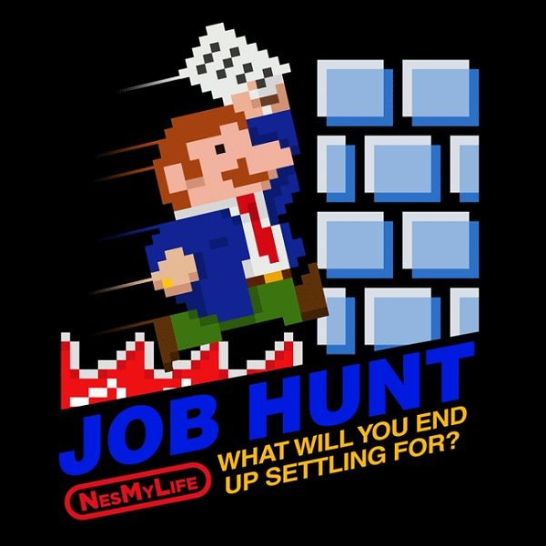 NES My Life T-Shirts Depict Everyday Struggles as Nintendo Games - resume yeti