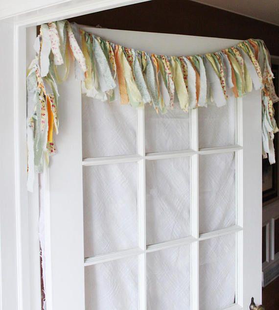 Shabby Chic Curtain Kitchen Valance Rag Boho Valence Window Curtains