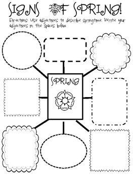 Spring Writing Activity Freebie Worksheets Pinterest Los Estudiantes Organizadores Graficos Y Estudiantes