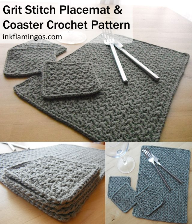 Placemat Coaster Set Crochet Stitches Crochet And Stitch