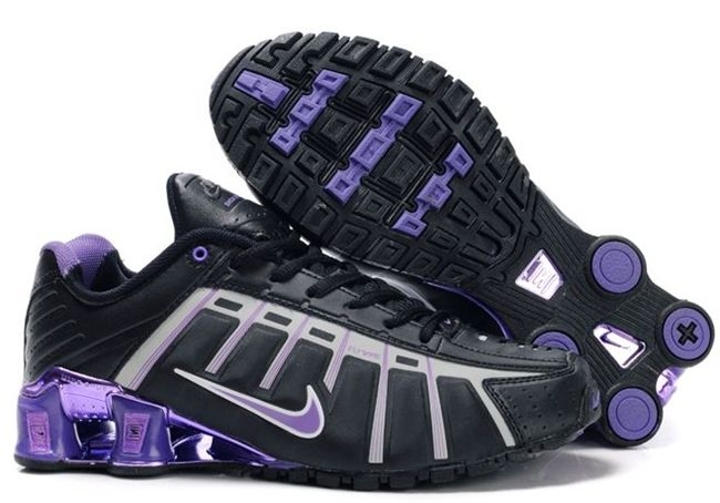 Womens Purple Black and Gray Nike Shox O Leven with Chrome  b1ef1601d2