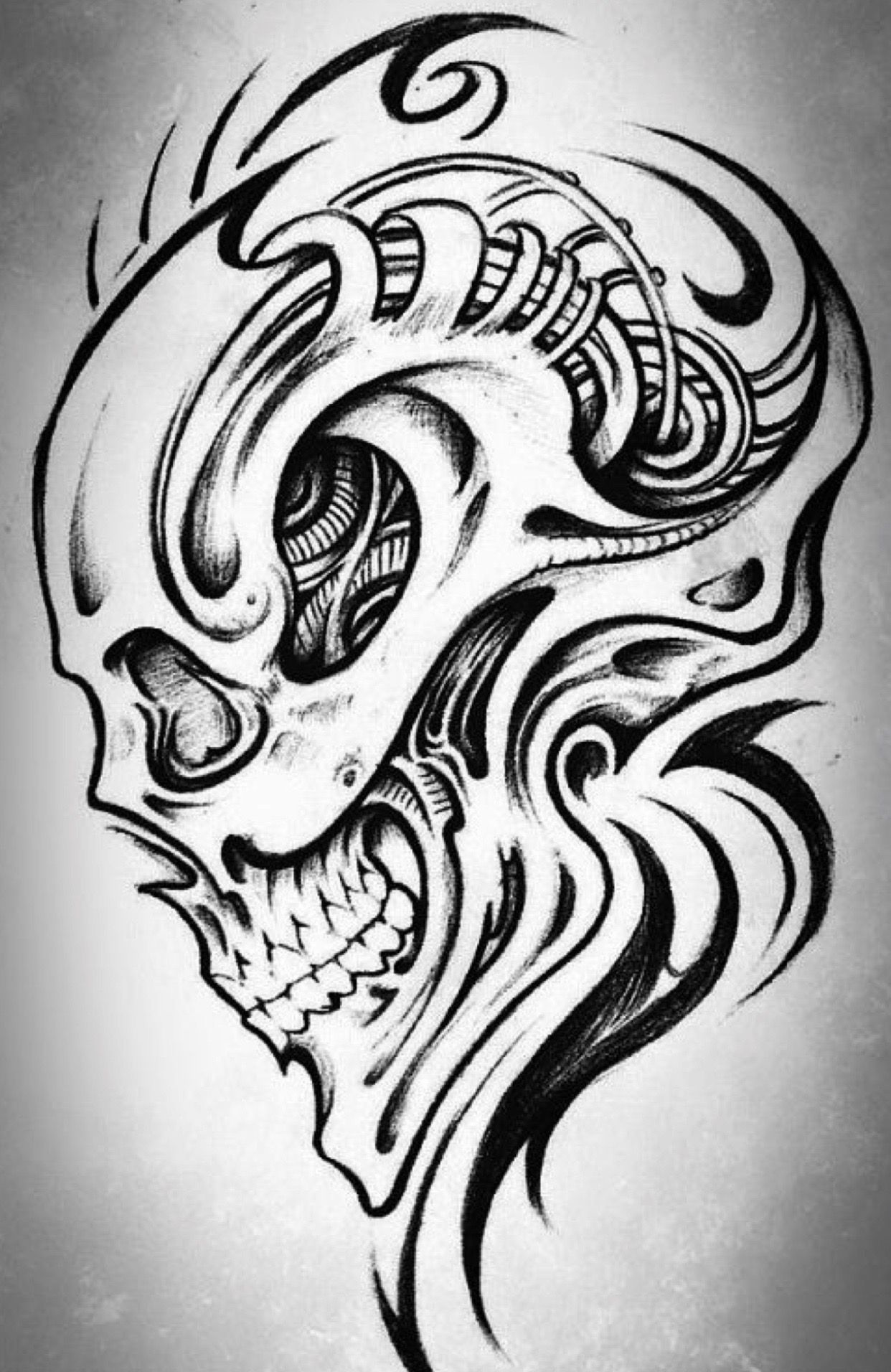 Pin by Thomas Rohrhofer on Pencil Drawing | Skulls drawing ...