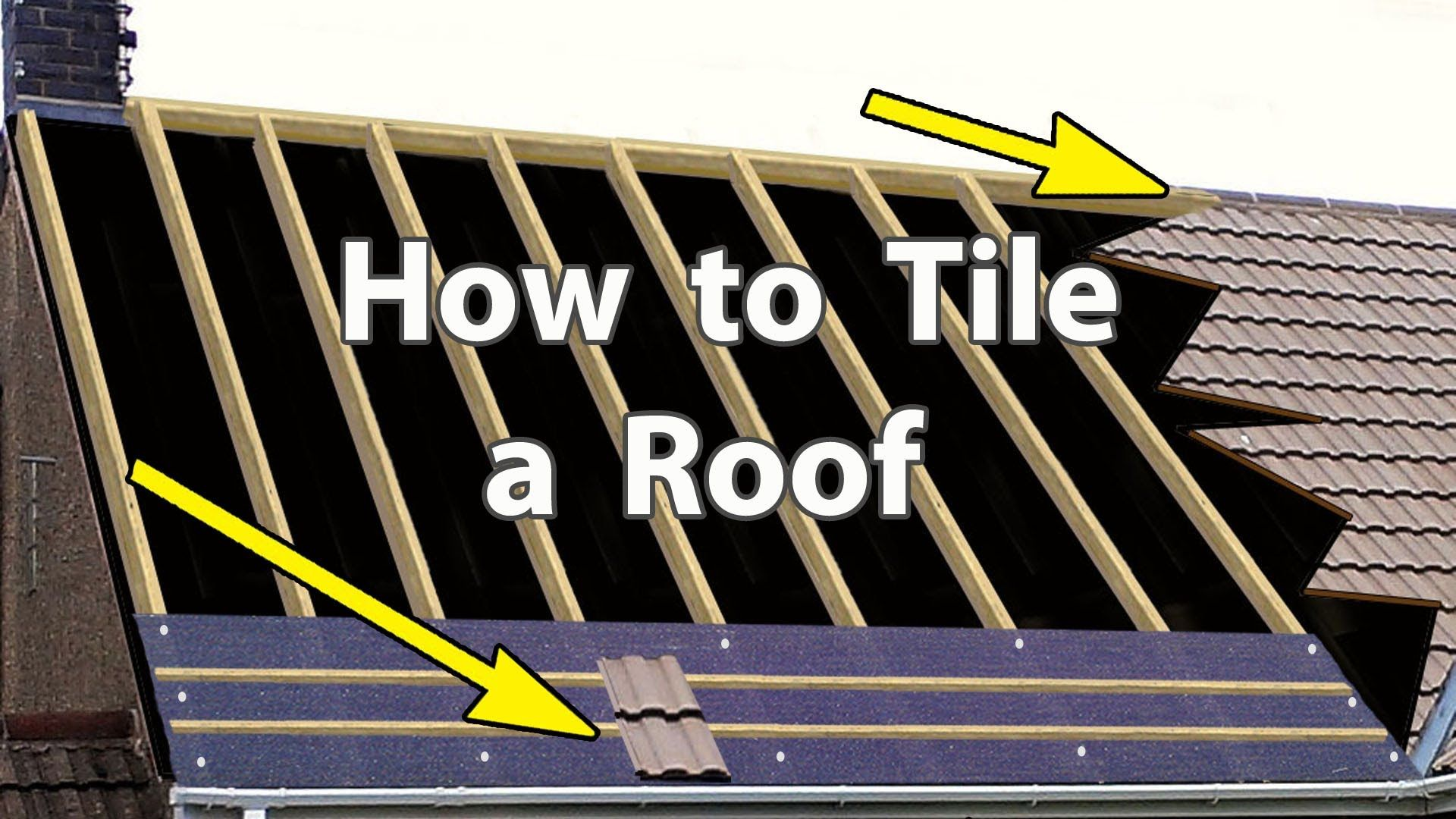 How To Tile A Roof With Clay Or Concrete Tiles New Roof Concrete Roof Tiles Clay Roof Tiles Concrete Tiles