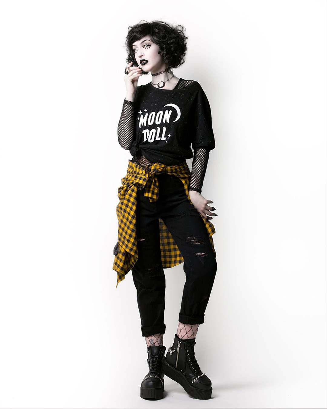 """Grungy Tumblr Outfits 2020 Ideas For Middle School rogueandwolf: """"Become a badass grunge goth with our NEW MoonDoll"""