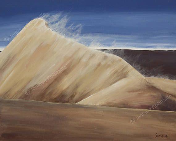 Dune De Sable Désert Reproduction Peinture Sur Toile Canvas My