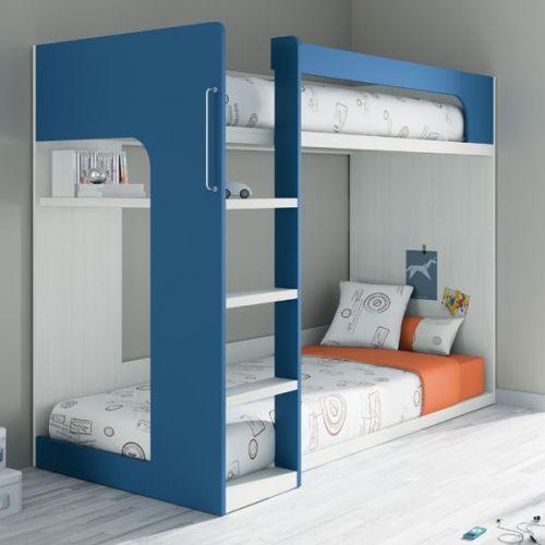 Dormitorio juvenil ros litera estilo tatami ros for Habitaciones con literas