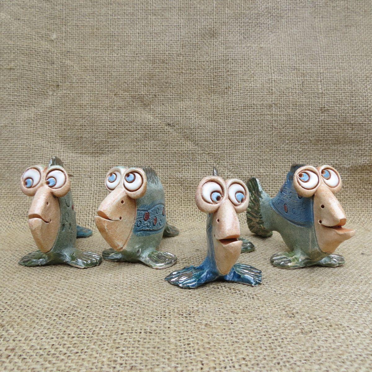 keramická rybka modrá, keramika, Keramika Jandovi