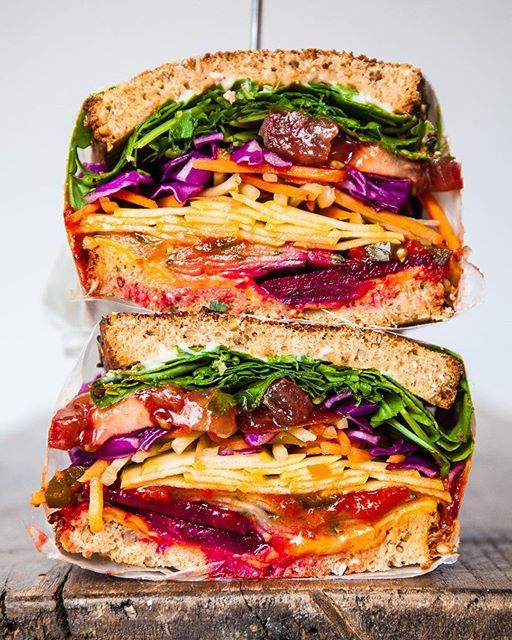This Veggie Sandwich By At Giannaciaramello Consists Of