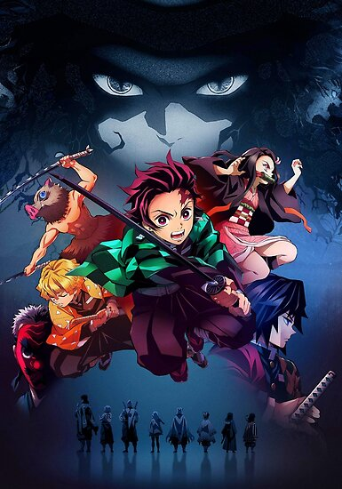 Demon Slayer Main Characters Poster By Espressiodesign In 2021 Anime Demon Slayer Anime Anime