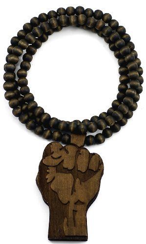 Allah Necklace New Good Wood Style Pendant With 36 Inch Beaded Chain