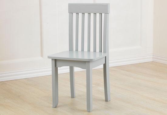 Kidkraft stoel avalon licht grijs kinderen vinden het leuk als