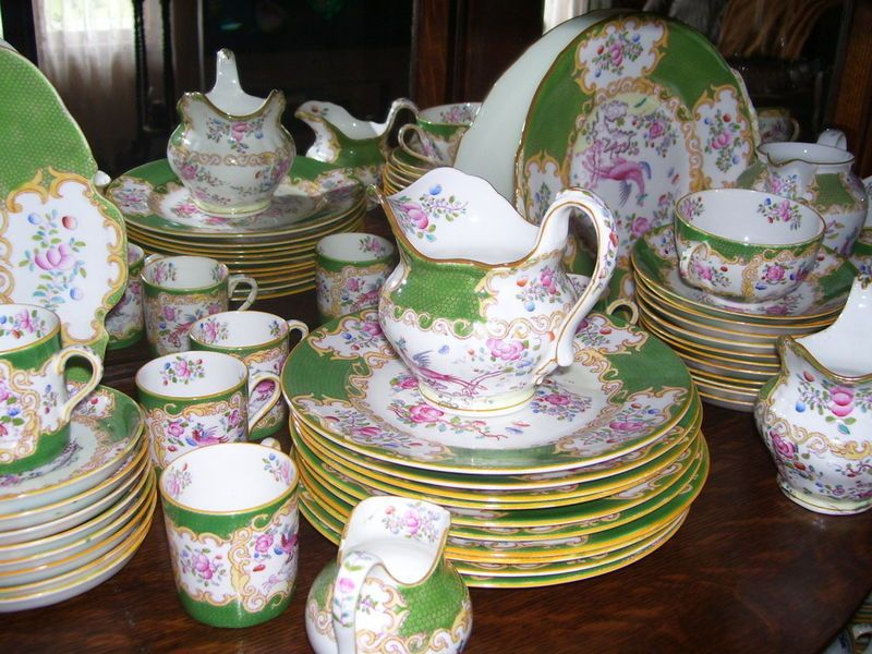 Minton china dessert or luncheon service in the green cockatrice pattern. On Kijiji Montreal & Minton china dessert or luncheon service in the green cockatrice ...
