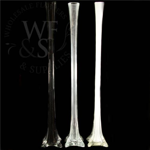 28 Glass Eiffel Tower Vase In Clear Wholesale Flowers And Supplies