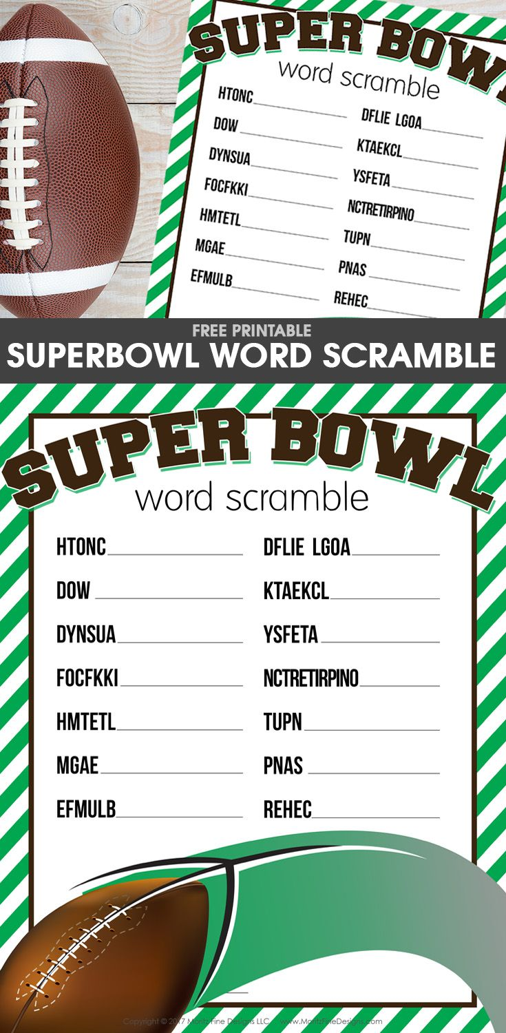 Decisive image within super bowl party games printable