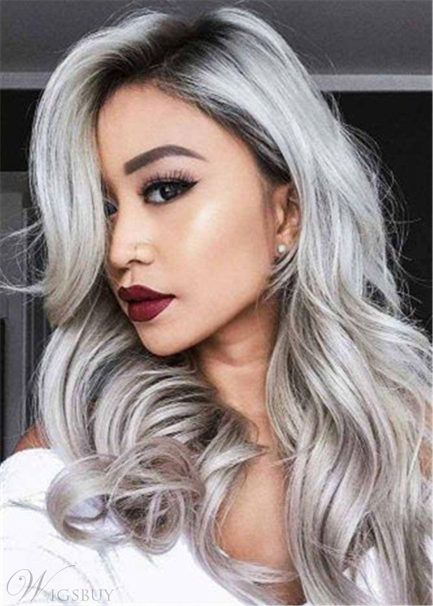 Wigsbuy Body Wave Huaman Hair Weave 1B/Grey Hair Bundles