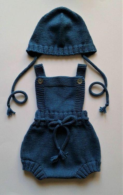 PDF Knitting Pattern | Ember Baby Romper, Dress and Bonnet | 0-24 Months