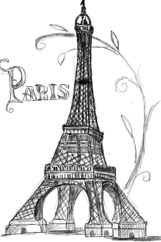 D Line Drawing Easy : Pretty drawing of the eiffel tower u can tell i really