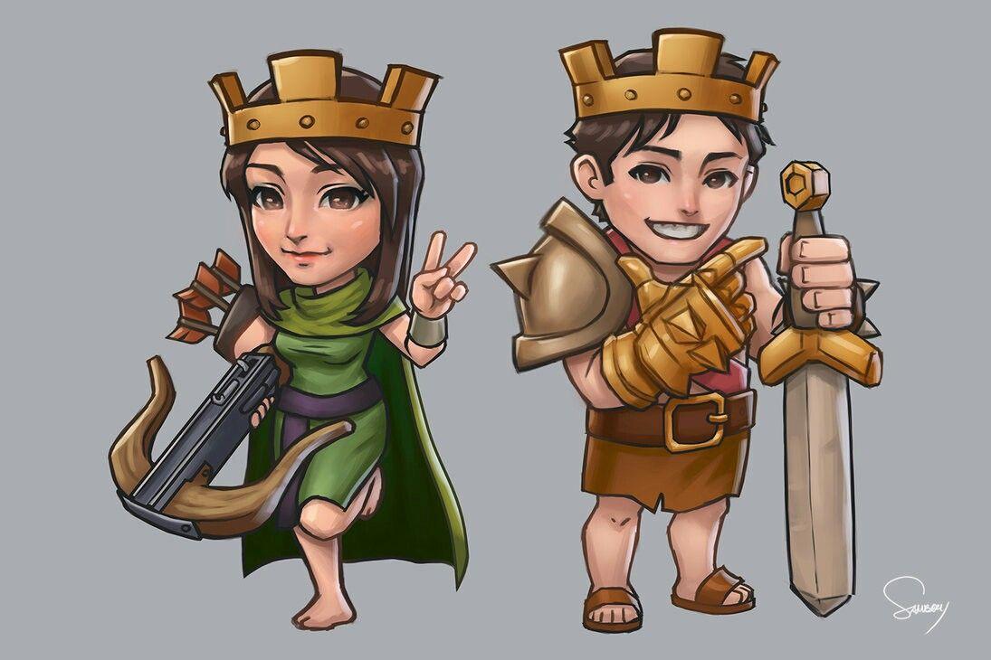 Archer queen and barbarian king cartoon version (Dengan ...