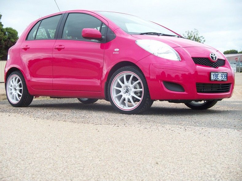 Toyota Yaris Bright Pink Yaris Toyota Car Accessories For Girls