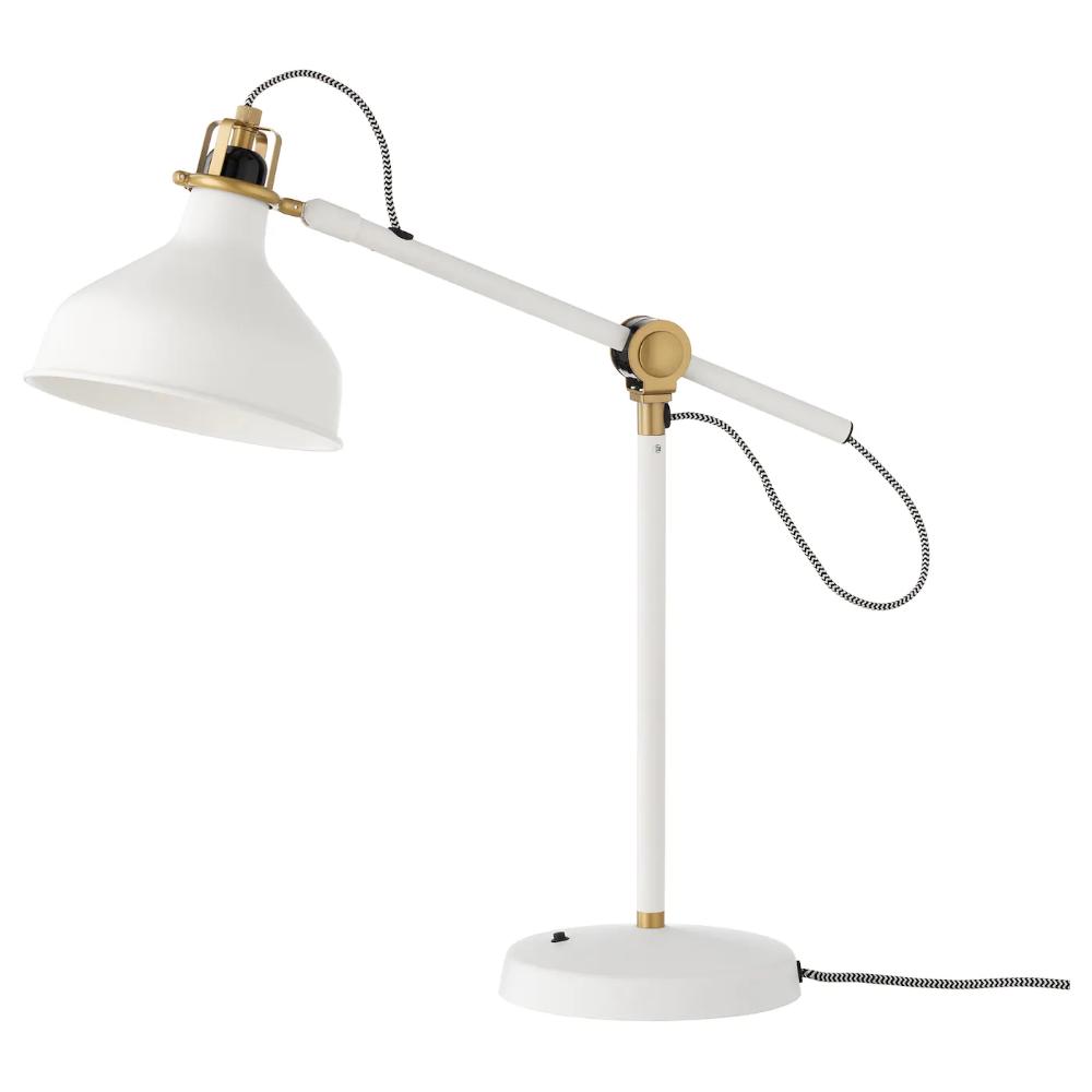 Ranarp Lampe De Bureau Blanc Casse Ikea In 2020 Lamp Work Lamp Bulb