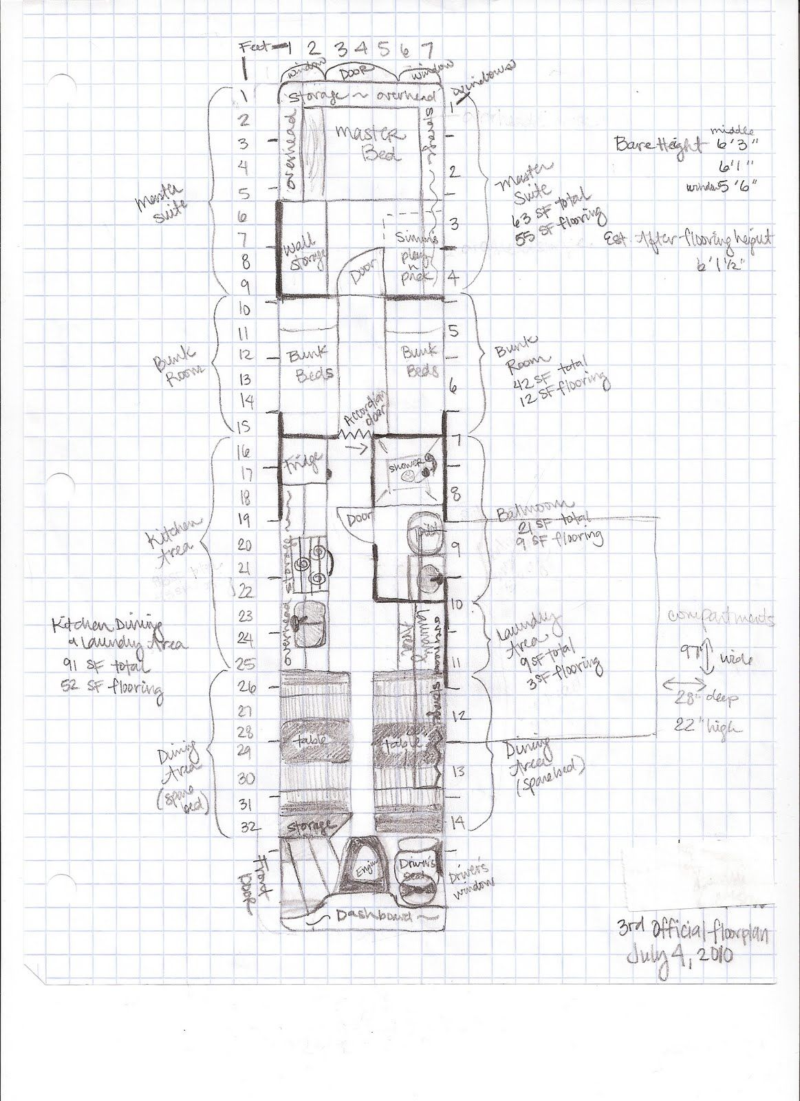 Step 5 floor plans interior design bus conversion for Rv blueprints